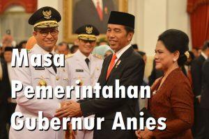 Masa Pemerintahan Gubernur Anies